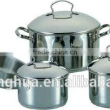 9 PCS stainless steel saucepan cookware set