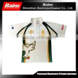 Custom made Sports sublimation cricket shirt/2016 top sale high quality cricket t-shirt pattern