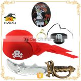 Crazy Pirate Hat Set Sword Eye Patch Toy For Decorations                                                                         Quality Choice