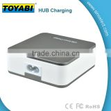 Hub charger works with Smartphones, Tablets, Bluetooth Speakers, Power banks and countless other USB powered gadgets