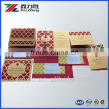 Custom printed Fashion Elegant Pocket folding Wedding Invitation cards ,Greeting Paper Cards ,Pocket fold paper cards