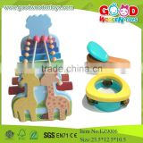2015Hotsale Wooden Kids Music Toys,Popular Colorful Animal Deer Set Xylophone Maracas Toy,New Item Musical Wooden Toys