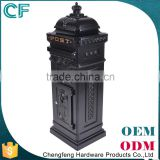 Top Grade Black Standing Residential Gardens Decorative Mail Box