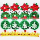New Arrival~2015 Applique Christmas Tree/Star Red/Green Color, Use for Decoration