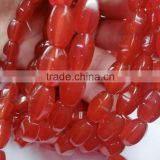 8*12mm Natural Red Carnelian Beads Gemstones Manufacture & supply wholesalers & Exporters of Faceted Rice Beads