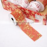 Jute material 2 inch 3inch large size decorating cut wide weave edge ribbon for chair bow christmas decorative craft