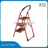 Household red ladders,Iron folding steps ladders,Home working ladders,Insulation ladders