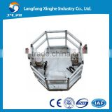 circle hot galvanized / aluminium alloy suspended platform / adjustable height cradle / electric swing stage