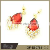 2014 wholesale rhinestone long earings