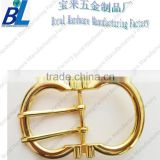 Novelty gold plated lock metal bag buckles with double pins