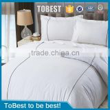 ToBest 100% Egyptian Cotton King Size White Stain Hotel Bed Sheets Sets Wholesale