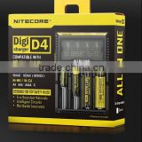 2014 latest Nitecore battery charger D4 samart charger compatible with almost all cylindrical rechargable batteries