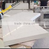 Chinese Countertop Manufacturer Fabricate Cheap White Sparkle Quartz Stone Countertop