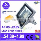 Samsung LG chip competitive price 5 years warranty ip65 aluminum 50w smd led floodlight housing