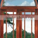 Round Transom Exterior French Wooden Doors Design 2013 New DJ-S9071HR