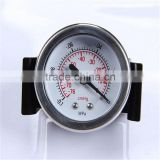 Durable Light Weight Easy To Read Clear Aluminium Silicone Oil Filled Steam Oxygen Pressure Gauge