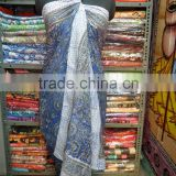Indian Handmade Cotton Block Printed Beach Wear Bikini Cover Up Pareo Swimwear Sarong Pareo