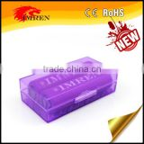 High quality 2 x 18650 Battery Plastic Storage Case 18650 battery holder/2*18650 battery case