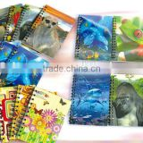 Lenticular cover 3D notebook