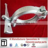 Concrete pump pipe Clamp, MF 125 5' Wedge Clamp, Forging Schwing concrete spare parts