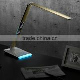 Led Folding clock bedside dimmable official high level led reading study desk lamp light