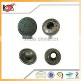 Custom H65 High Quality Metal Spring Snap Button Four Parts Press Buttons For Garment In Gold Finish
