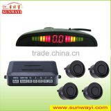 40KHz Car Digital Distance Colored LED Display 4 Reverse Parking Sensors Backup Radar Kit