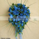 hIgh quality artificial royal blue rose flower for home wedding decorations