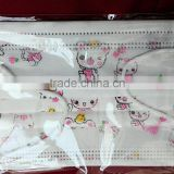 carton printed funny face disposable surgical mask for children