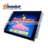 Wintouch 19inch 3M game open frame touch monitor with IR touchscreen Metal Case for kiosk