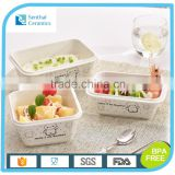 Bento lunch box,Rectangular ceramic Lunch Box with airtight lid,kids lunch box