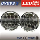 ovovs 2016 Hot sale 7 inch 75W headlamp led driving light 12V led J-eep wrangler headlight