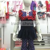 2016 new arrival Wholesale kids clothes baby girl july 4th patriotic dress girls outfits giggle moon remake boutique outfits