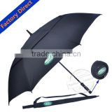 China wholesales UV umbrella, windproof umbrella, promotional double layer golf umbrella