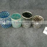 elegant modern glass mosaic candle holder, candle cup, candle jar in different size and shape