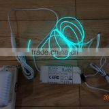 """Polar light 3""OD:2.6mm Blue-green EL WIRE AC110V-240V 40M-60M EL WIRE INVERTER"
