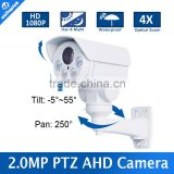 HD 1080P Mini Bullet PTZ AHD Camera 2.0Megapixel 4X Zoom Manual Lens Pan/Tilt Rotation Outdoor IR 30M Night-Vision
