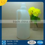 1.5L 50oz HDPE Custom Plastic White Bottle for Laundry, Liquid Detergent, Milk, Dish Washing
