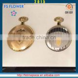 FS FLOWER - Brass Pocket Watch Skeleton Movement High Quality Gifts