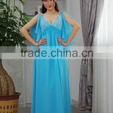 French connection formal blue layered deep V neck size 10 sexy mother of the bride dresses