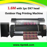 Outdoor Flag Direct printing machine 1.6M with 1 DX 7 head Sublimation flag printer for outdoor PrintingMachine