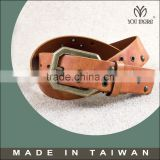 New tan heavy hide rugged style leather belt for men