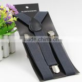 85*2.5cm dark gray 3 clips belt Three clip straps Adjustable solid baby Suspenders baby Elasti Braces Kids boys Suspenders