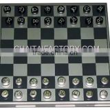 Travel Metal Magnetic 3 in 1 Chess Set with Backgammon and Checkers