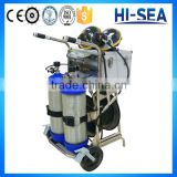 9L 2pcs Carbon Fiber Cylinders Movable Trolley Positive Pressure Air Breathing Apparatus with Long Tube