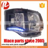 Car body parts LED headlights for toyota hiace bus