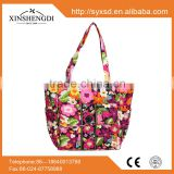 2016 Hot best selling high quality quilted fabric floral fashion fancy hipster designer women shoulder tote cotton bag