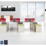 Factory price luxurious panel office workstation for 6 person