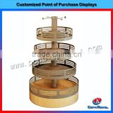 Wholesale supermarket fashion wooden bakery bread display shelf