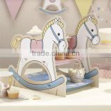 Vintage Theme Party SHABBY Horse Baby Bear Rocking Horse Teddy Cupcake Or Sandwich Stand Baby shower Party Supplies